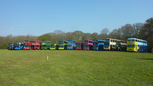 Vehicle line up at IoW