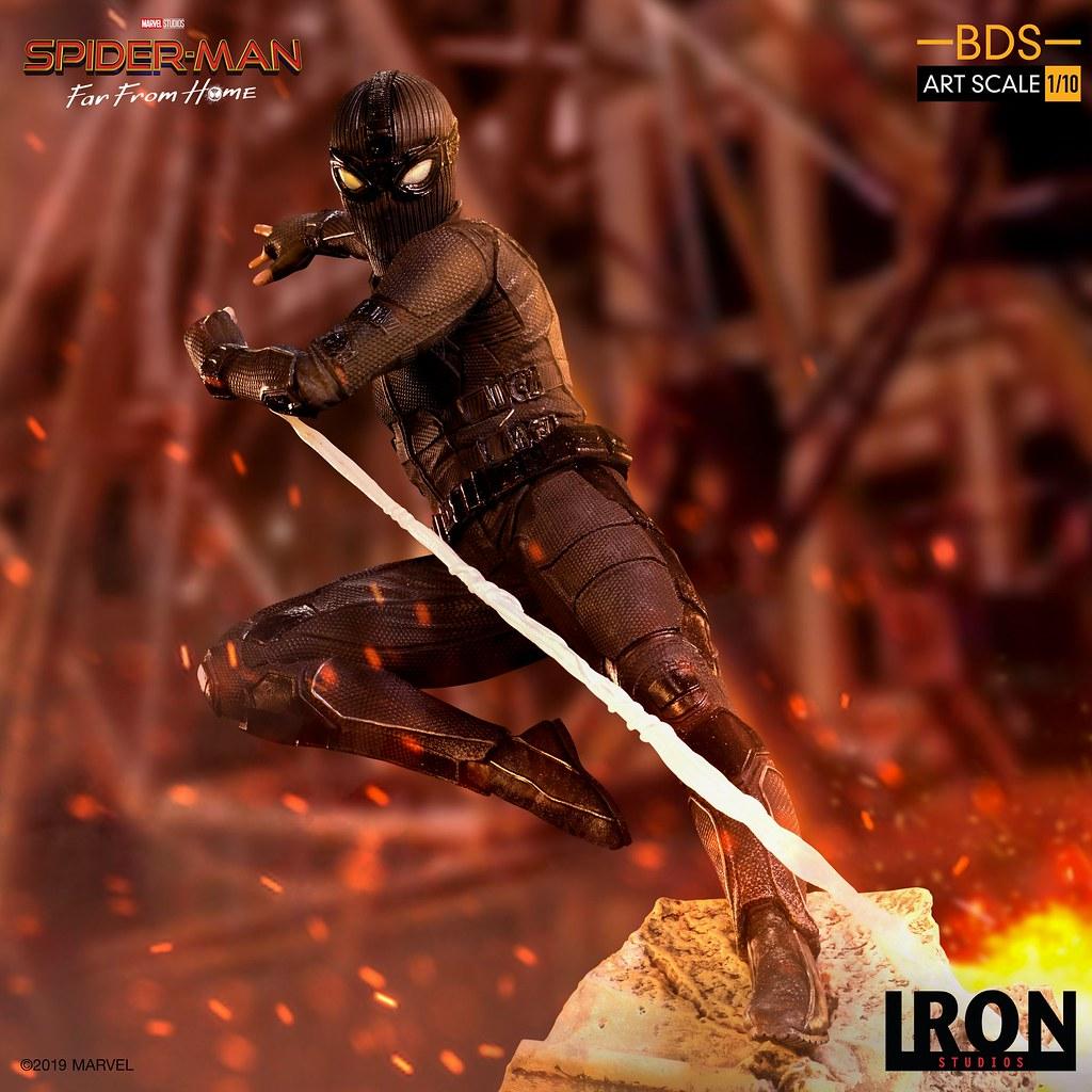 歐洲的山寨版蜘蛛人參戰XDD! Iron Studios Battle Diorama 系列《蜘蛛人:離家日》夜猴 Night-Monkey 1/10 比例決鬥場景雕像