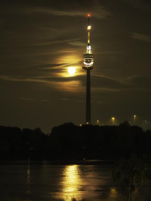 Danube Tower & the orange Moon