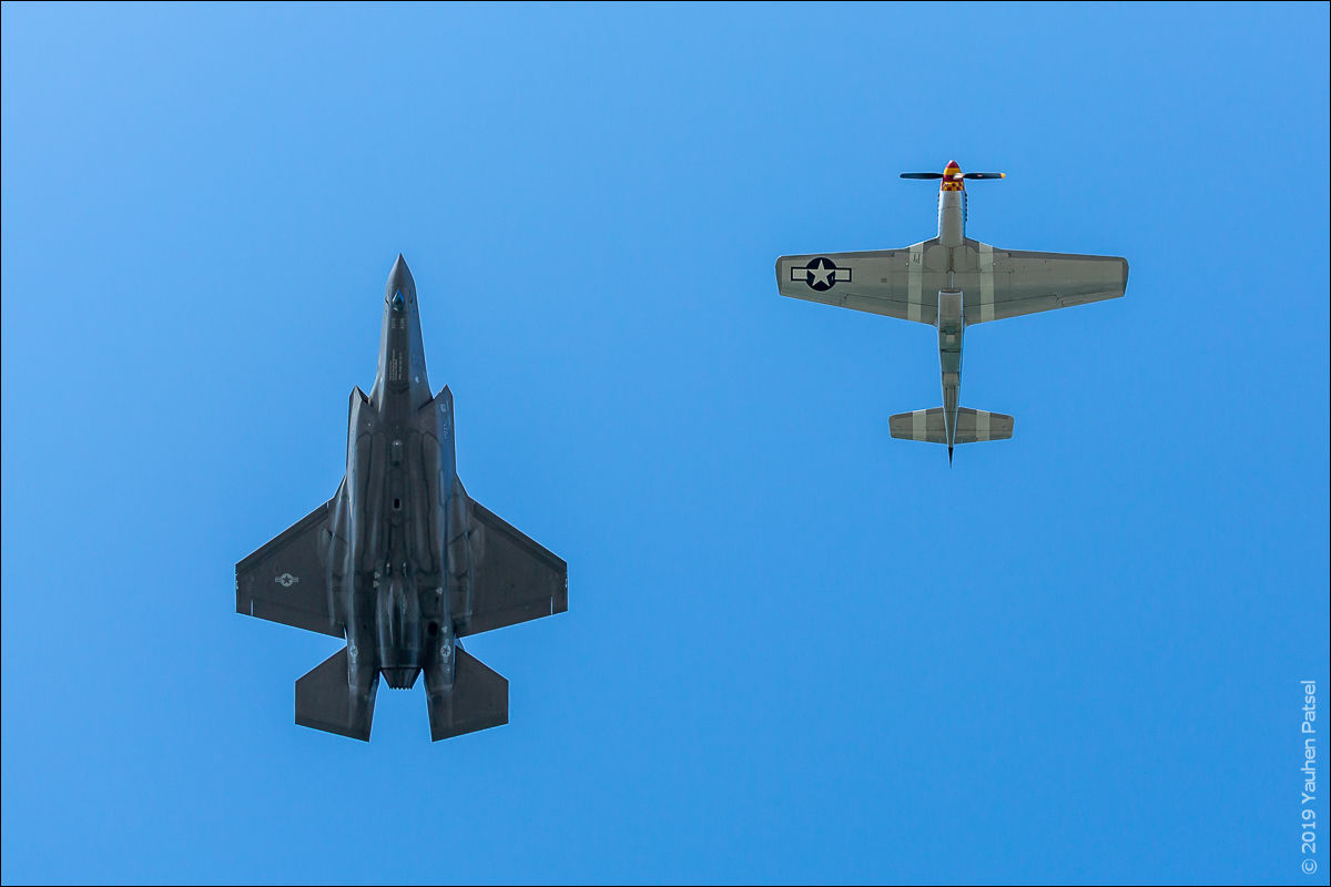 USAF Heritage Flight, F-35A Lightning II and P-51D Mustang