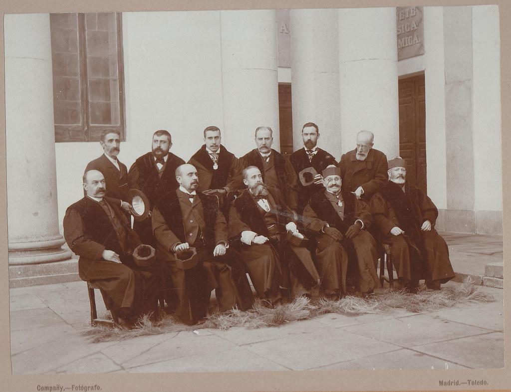 Profesores del Instituto de Toledo. Foto Compañy. Colección personal de Luis Alba.