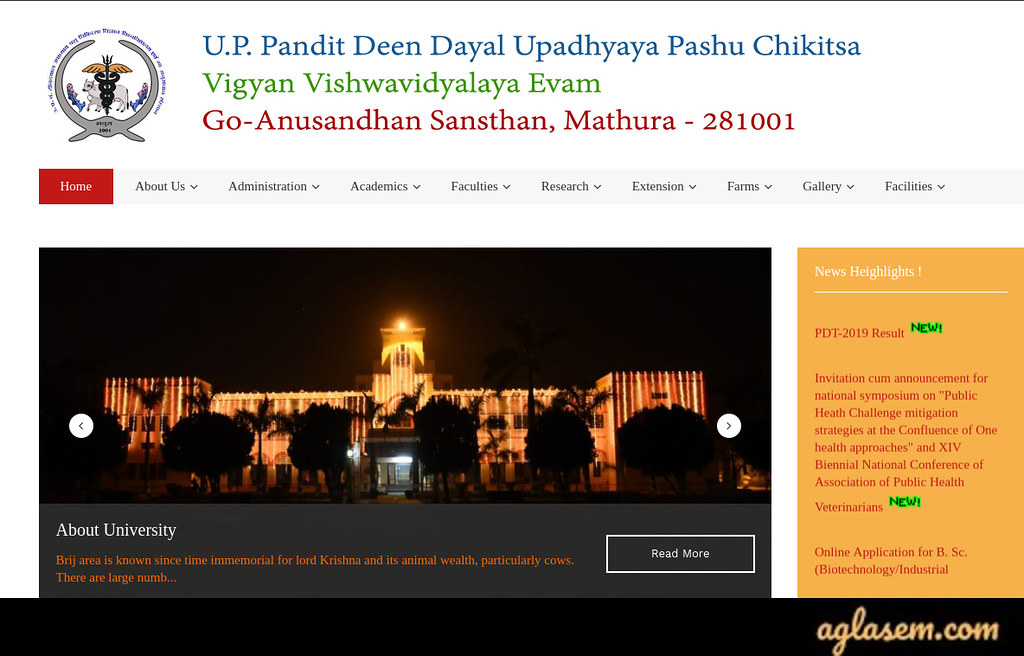 Official website for UP Veterinary Entrance Test 2020