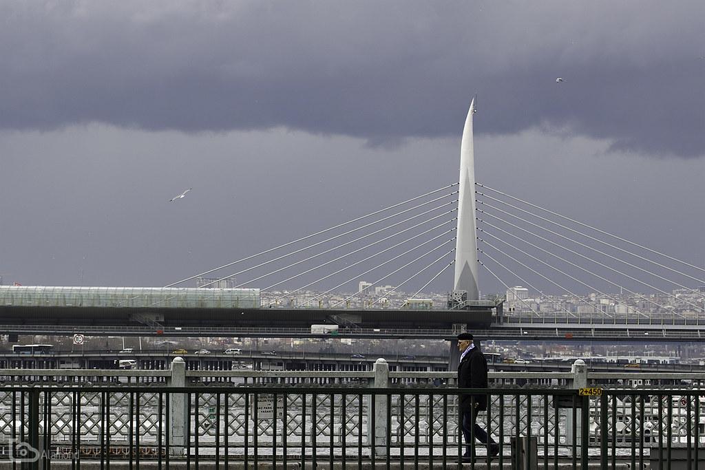 three bridges and a walker
