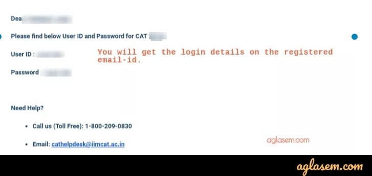 CAT 2019 Login Details