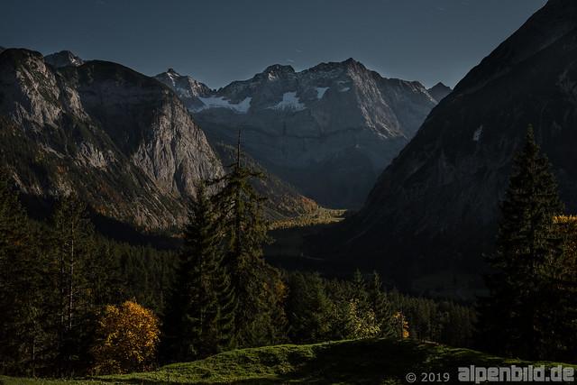 Bei Mondschein im Karwendel, 5.30 Uhr