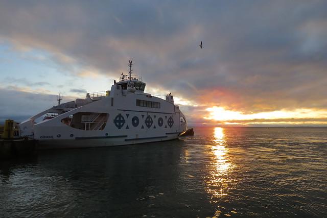 Sunset at Rohuküla harbour, Estonia