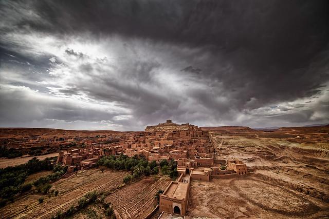 Ait Ben Haddou under the storm