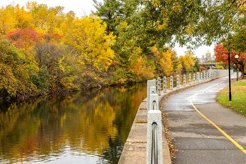ottawa travel canal rideaucanal road path trail nature fall autumn city urban trees reflection reflections ontario orange green yellow water scenery scenic landscape pathway canada canonef24105mmf4lisusm