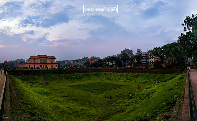 A panorama of, Lalbagh Fort Pond.