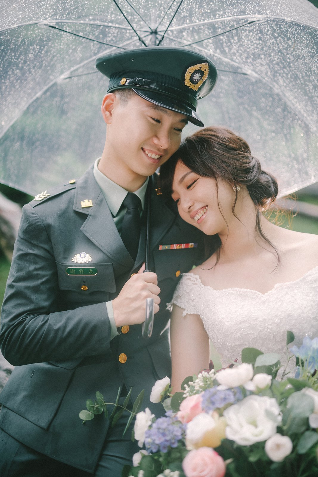 【婚紗】Sean & Rose / 陽明山 / 繡球花 / 軍裝婚紗 / 沙崙