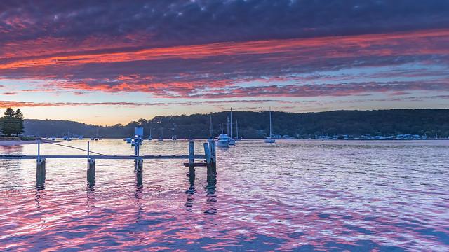 High Cloud Sunrise over the Bay