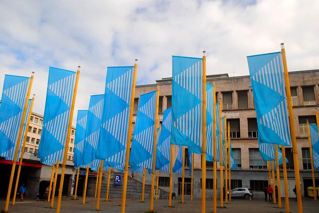 Bibliothèque Royale de Belgique flags