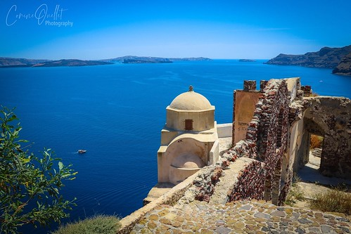 Old castle in Oia