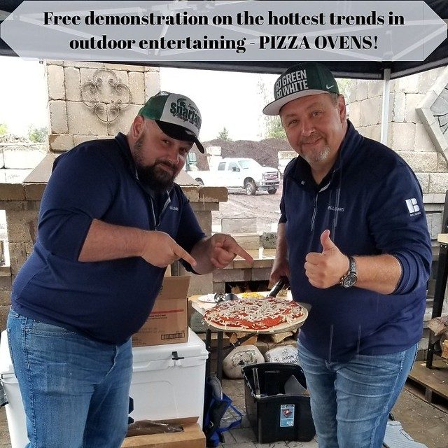 Don't miss what could be our last outdoor brick oven demonstration! 😉 Join us today from 11am until 1pm as our #Belgard representatives showcase how simple and fun these ovens are. Envision one at your home, it's the hottest trend in outdoor entertai
