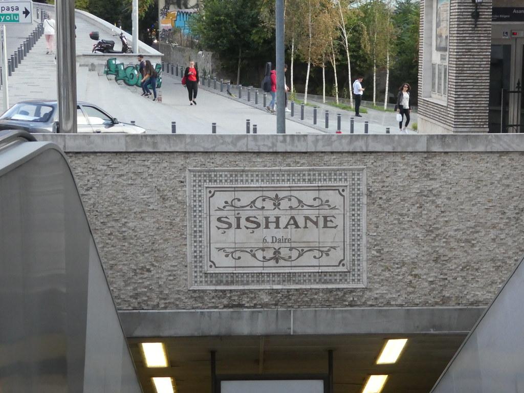 Sishane metro station station Istanbul