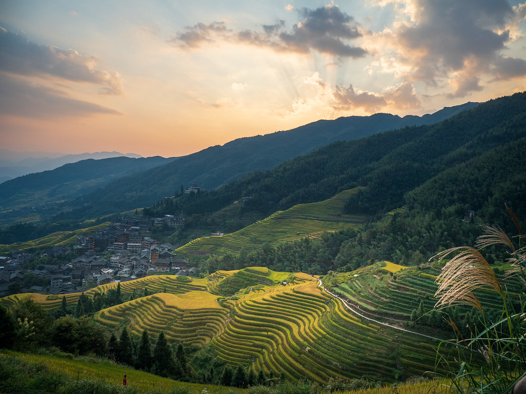 View from Nine Dragons Rice Terrace at Sunset.jpg