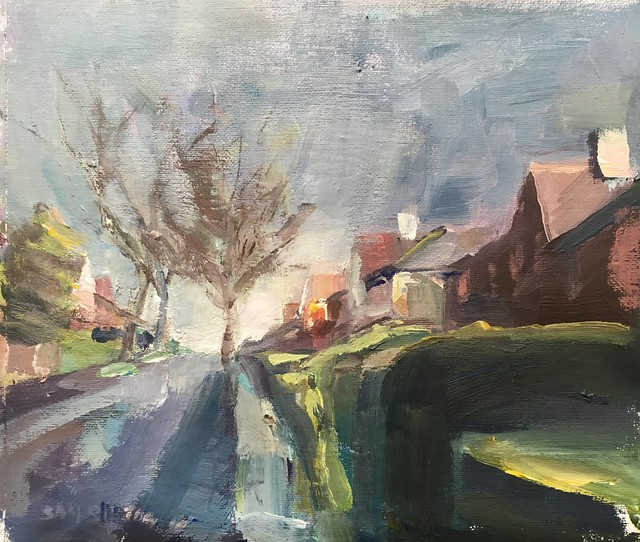 Wakefield street scene acrylic 12 by 10 inches