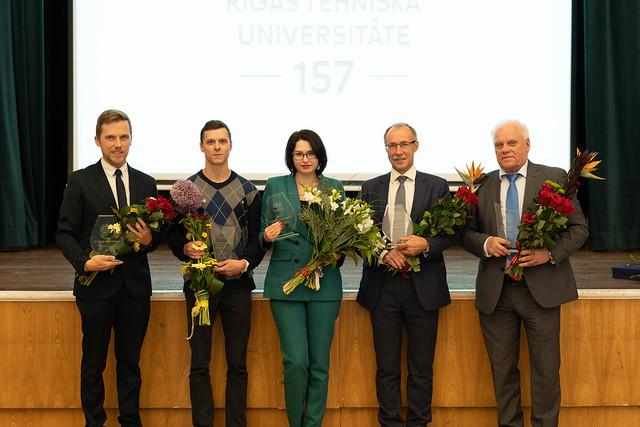 Izcilāko zinātnieku un mācībspēku apbalvošana RTU 157. dzimšanas dienā