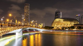 Jubilee Bridge & Esplanade Night