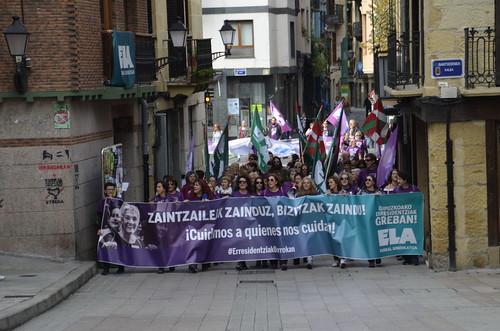 Errsidentzietako ELAko langileen protesta
