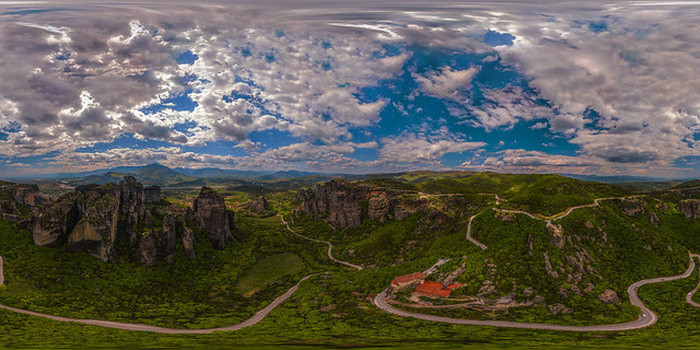 Meteora 360° Aerial Panorama, Greece