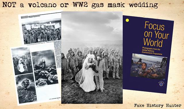NOT a volcano or WW2 gas mask wedding