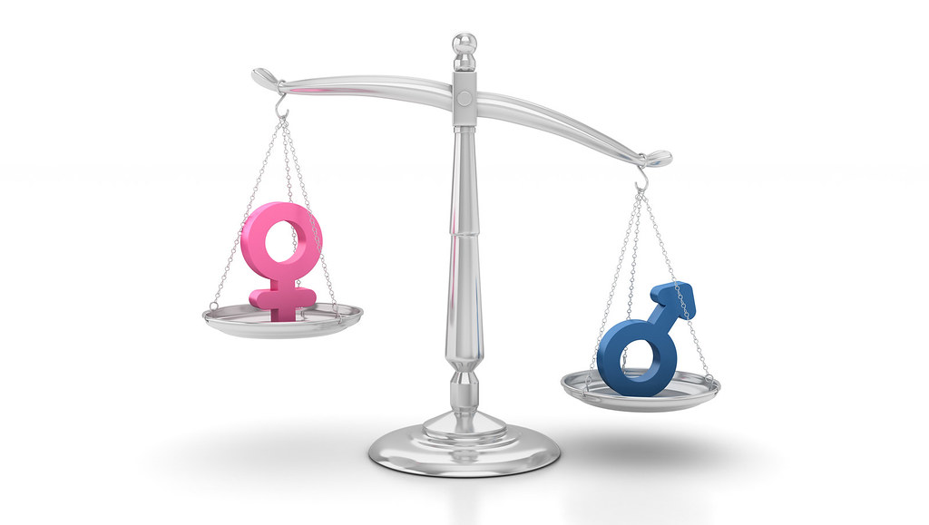 Gender icons on scales