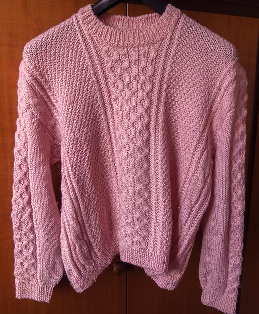 Handmade pink wool sweater