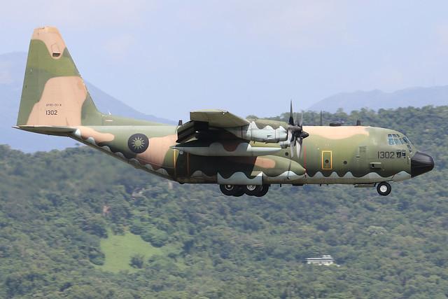 1302  -  Lockheed C130H Hercules  -  Taiwan Air Force  -  TSA/RCSS 10/10/19