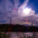 Colourful sky over the River Ribble