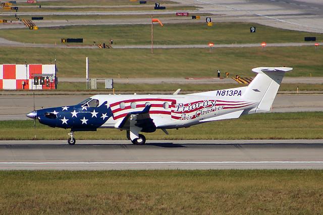 Priority Air Charter PC-12 at Cincinnati