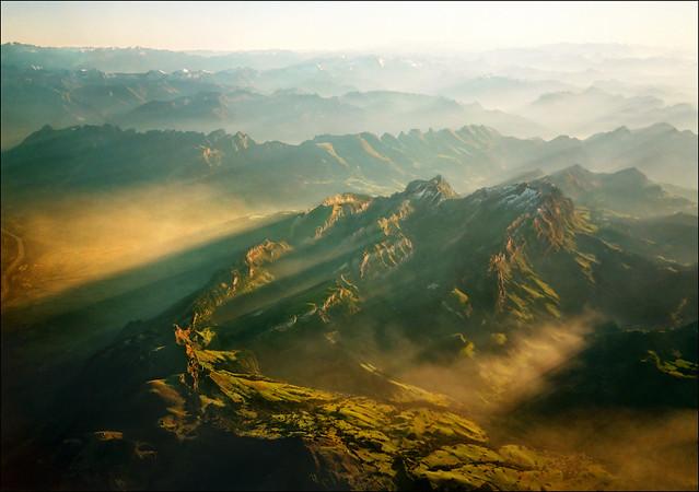 Last rays over Alps