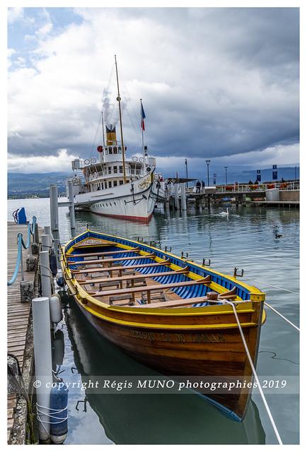 Port d'Yvoire sur le lac Léman