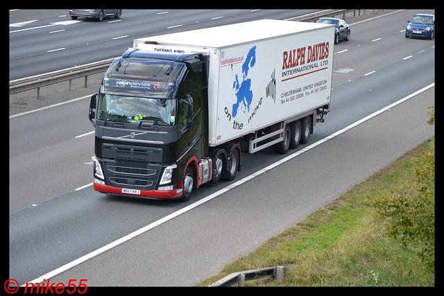 Volvo FH4 'Ralph Davis International Ltd' reg WR67 KRJ