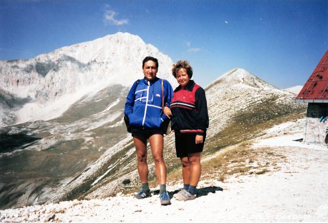 Pietracamela (TE), 1987, Verso il Corno Grande del Gran Sasso. Dal rifugio Duca degli Abruzzi.