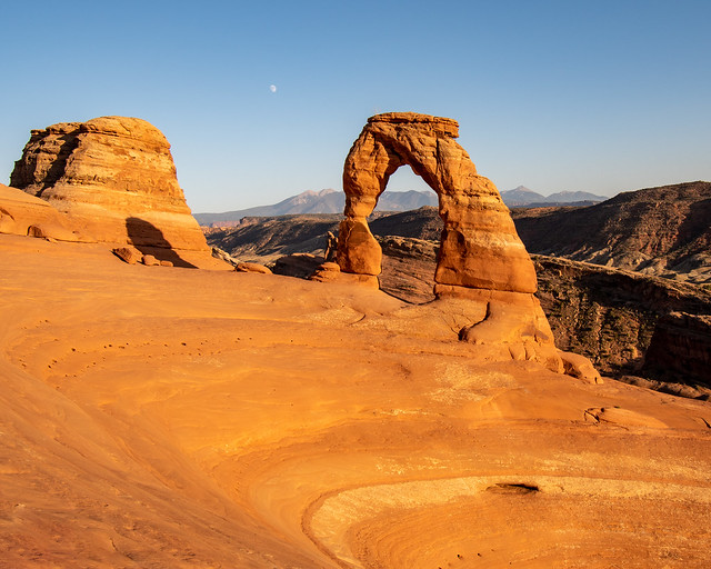 Arches National Park   |   Delicate arch Orange