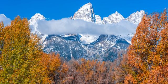 Snow-Covered Grand Teton National Park Snowy Fuji GFX100 Autumn Aspens & Snow! Fine Art Landscape Nature Photography! Fuji GFX 100 Medium Format & Fujifilm Fujinon GF 100-200mm f/5.6 R LM OIS WR Mount Lens! Elliot McGucken Fine Art Landscape Photography