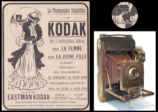 No 3 Folding Pocket Kodak camera and ad .