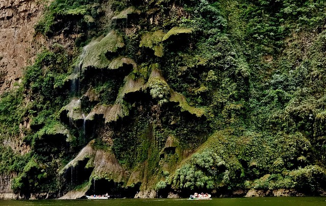 MEXICO, Yukatan , Chiapas ,  Sumidero Canyon, Steile Felsen und Wasserfälle, 19339