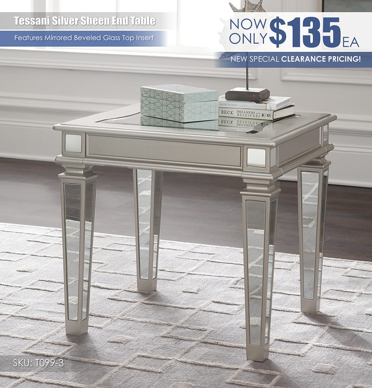 Tessani Silver End Table Special_T099-3