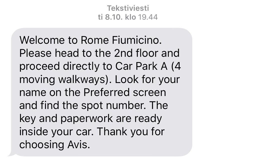 Autonvuokraus Roomassa AVIS