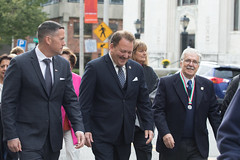 Rep. D'Amelio and fellow Italian-Americans walk up East Main Street during ceremonies honoring Waterbury Italian Mayor for the Day Maria Vigliotti