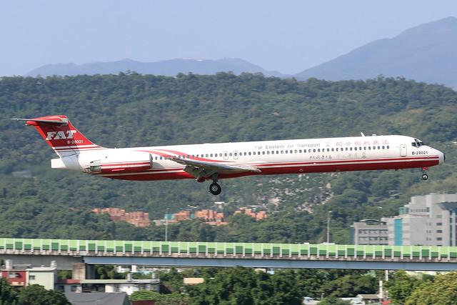 B-28021  -  McDonnell Douglas MD82  -  Far Eastern Air Transport  -  TSA/RCSS 10/10/19