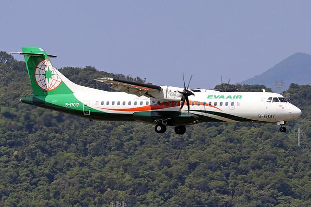 B-17017  -  ATR 72-600  -  Eva Air  -  TSA/RCSS 10/10/19