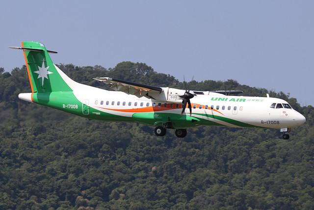 B-17008  -  ATR 72-600  -  Uni Air  -  TSA/RCSS 10/10/19
