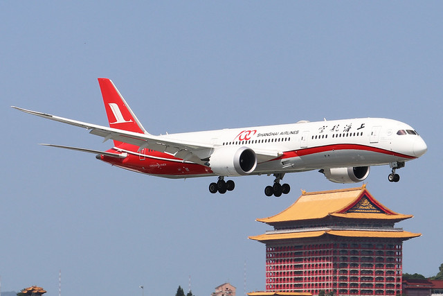 B-1111  -  Boeing 787-9 Dreamliner  -  Shanghai Airlines  -  TSA/RCSS 10/10/19