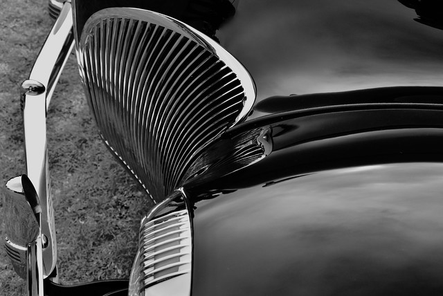 Monochrome Abstract from a Lincoln