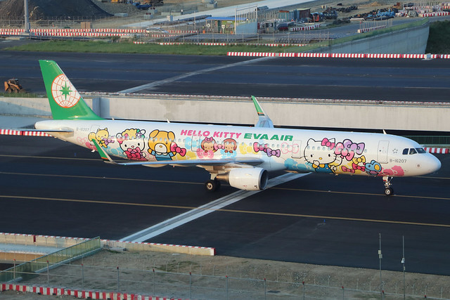 B-16207  -  Airbus A321-211 (SL)  -  Eva Air (Hello Kitty)  -  TPE/RCTP 11/10/19