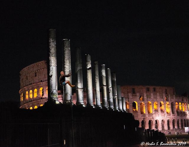 The Tree Hugger's Dilemma! At Rome's Coliseum.