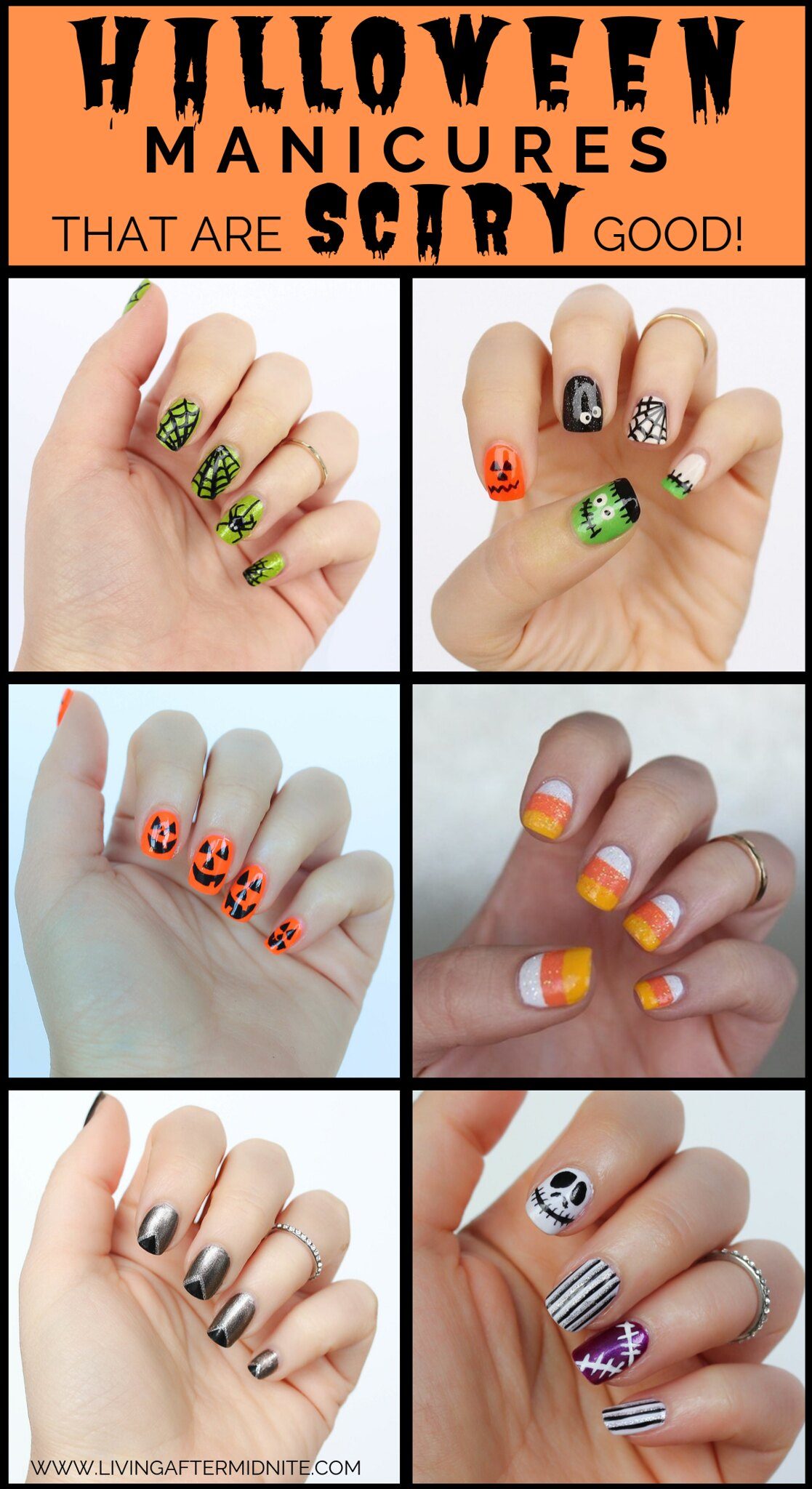 6 Halloween Manicures That are SCARY Good | Halloween Nails | Nail Art | Nail Designs | Spooky Nails